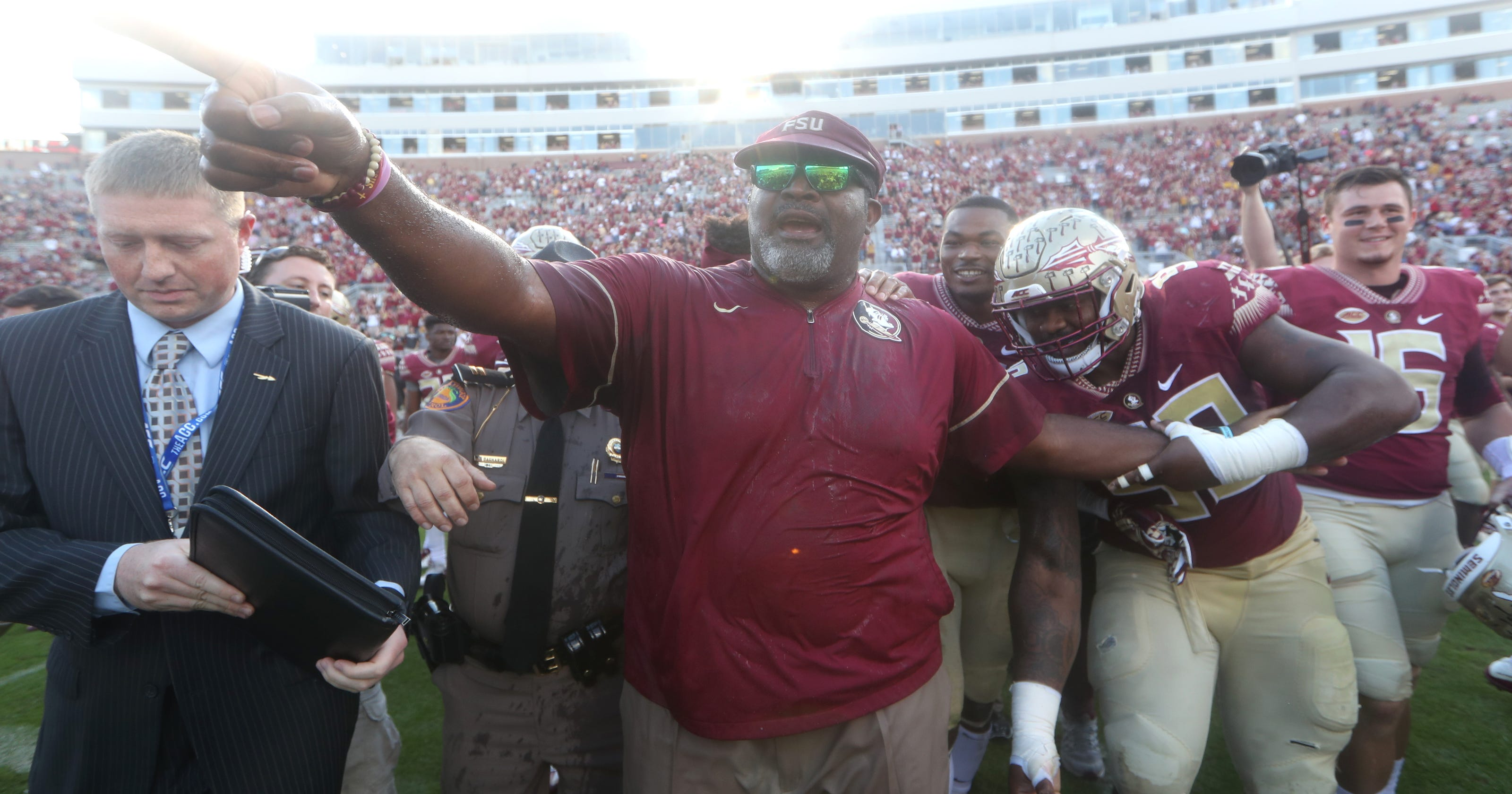 FSU interim coach Odell Haggins   We re going to play Florida State  football  965e6824a