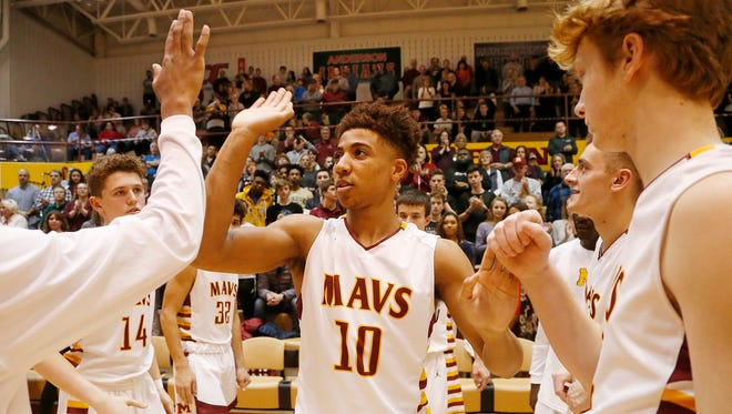 McCutcheon senior Robert Phinisee is introduced before the Mavericks face Lake Central Friday, February 23, 2018, in Lafayette.