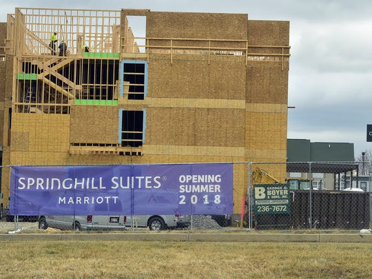 Springhill Suites is under construction along Gateway Avenue in Chamberbsurg on Wednesday, January 24, 2018