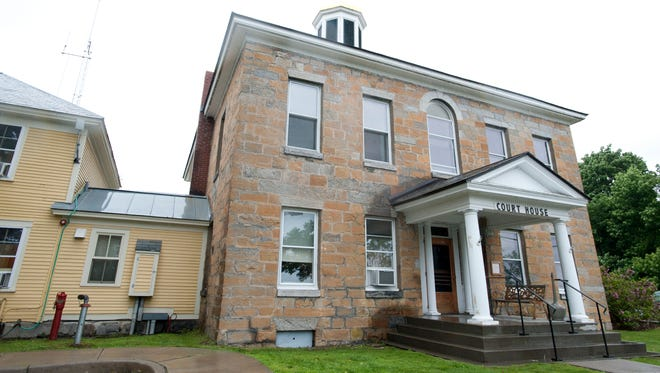 Authorities say they are investigating a series of embezzlement allegations that could exceed $100,000, including from the Grand Isle County courthouse, pictured, and the Champlain Islands Parent-Child Center in South Hero.