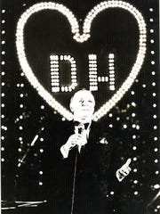 Frank Sinatra performing at the Valentine Love-In II to raise money for Desert Hospital.