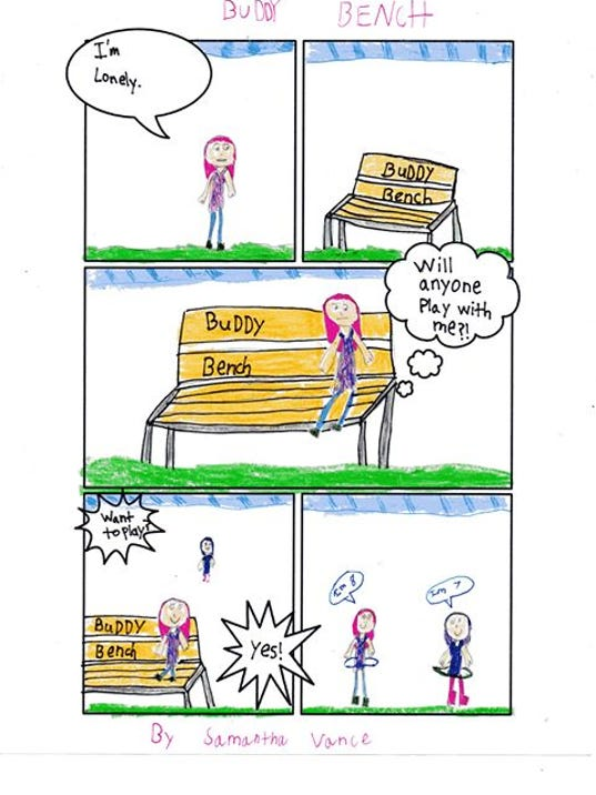 Buddy Bench comic strip