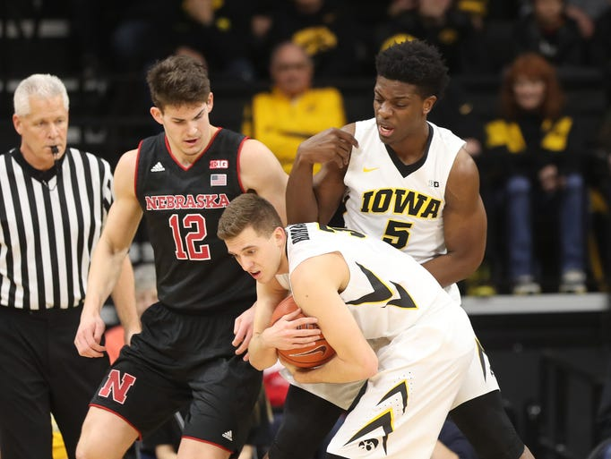 Feb 5, 2017; Iowa City, IA, USA; Iowa Hawkeyes forward