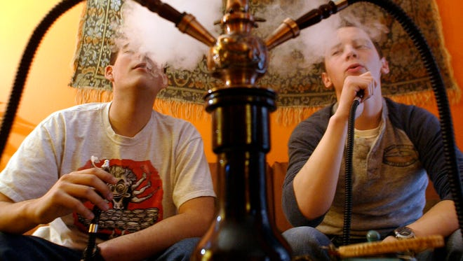 Study finds 18% of high-school seniors have smoked hookahs in the past year.