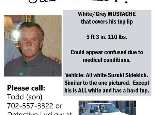 Robert (Bob) Brown has been missing since May 29, 2018.