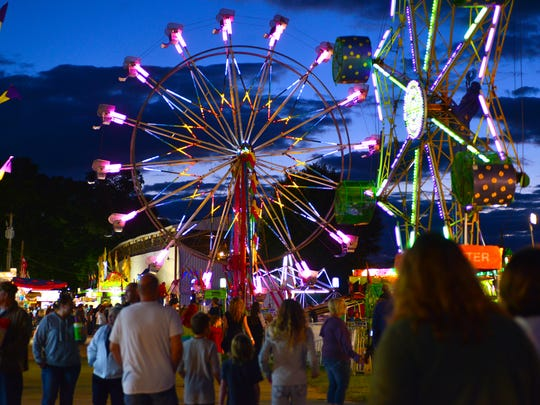 The Calhoun County Fair at night in 2015.