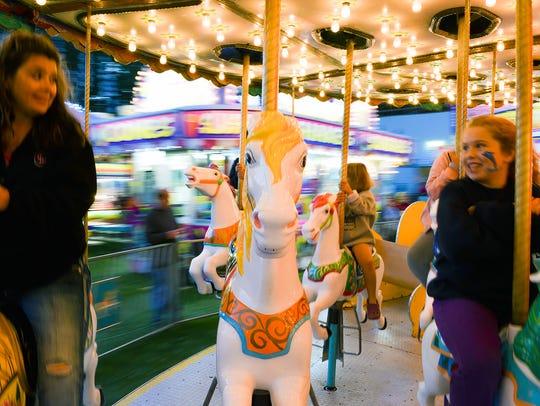 The Calhoun County Fair carnival opens on Monday.