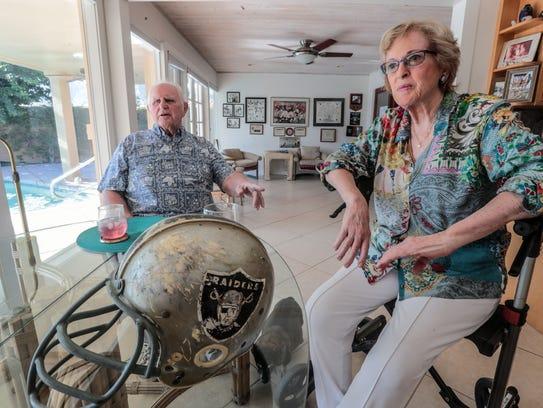 Retired Oakland Raiders football player Wayne Hawkins,
