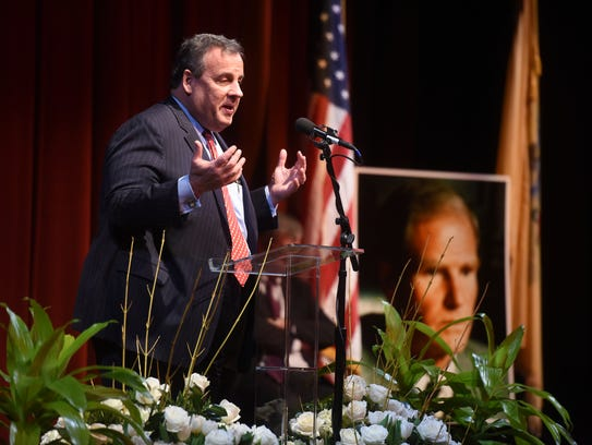 Gov. Chris Christie, a Republican, recalled a bipartisan
