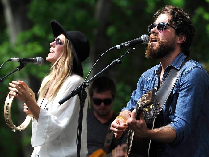 Elenowen, husband and wife singer/songwriters Josh