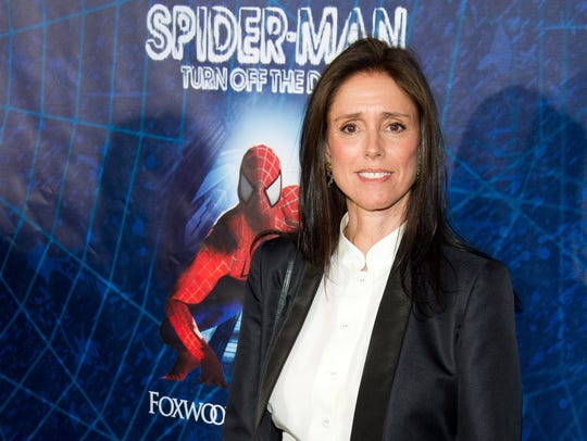 Julie Taymor arrives at the opening night performance