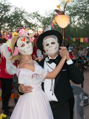 During Dia de Los Muertos celebrations, participants