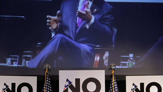 Former New York City Mayor Michael Bloomberg speaks during a 2010 No Labels conference in New York City.