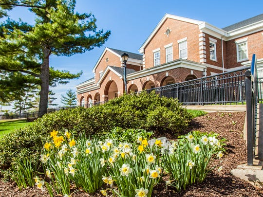 Wilmington University's New Castle campus pictured in the spring.