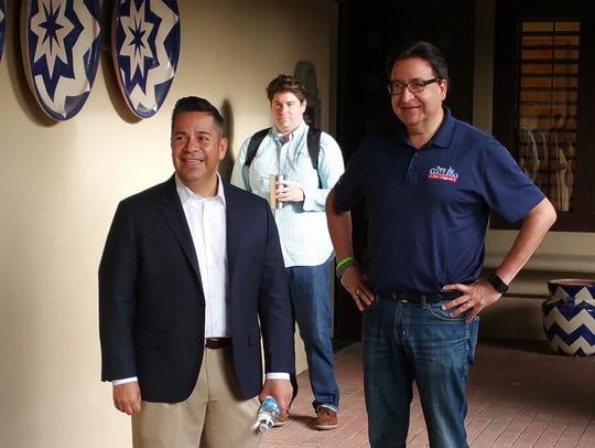 This is Pete Gallego, right, and Democratic Campaign