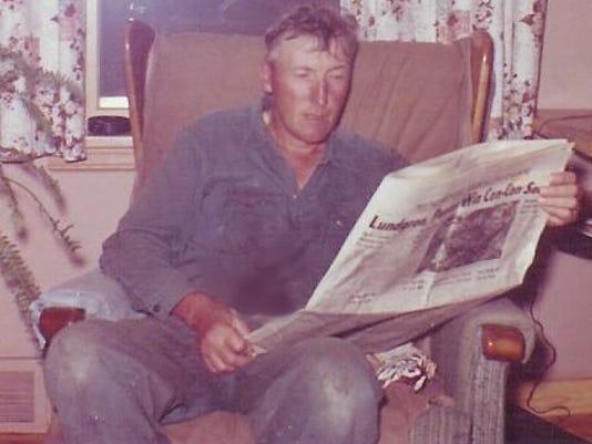 Dad on farm