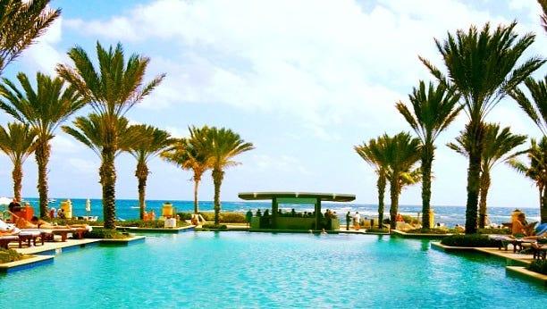 The pool -- and ocean views -- as seen from The Westin Dawn Beach Resort in St. Maarten.