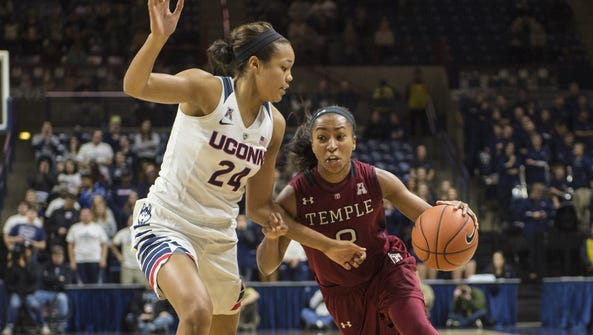 The Temple women's team will play No. 1 UConn on Feb.