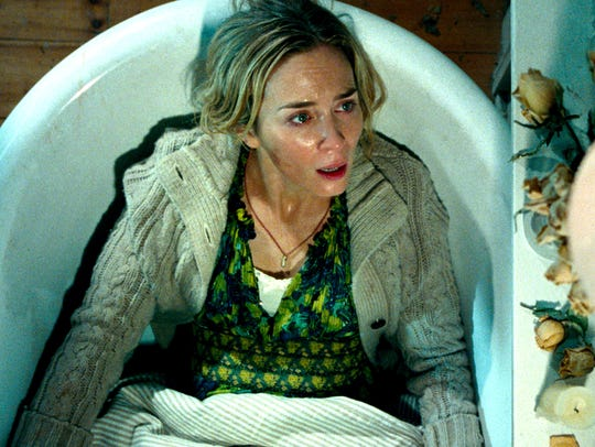 "Emily Blunt in scene from ""A Quiet Place,"" from Paramount"