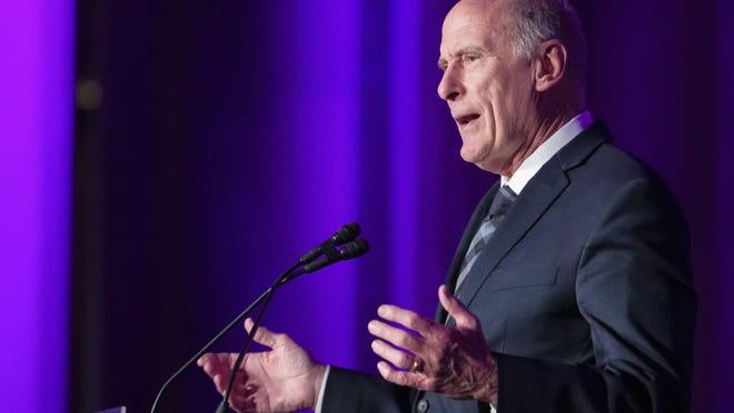 Director of National Intelligence Dan Coats speaks at the DC CyberTalks conference, Thursday, Oct. 18, 2018, in Washington. (AP Photo/Alex Brandon)