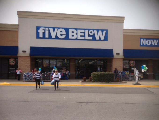 And Pre Discount Store Five Below Opened Its First Three Stores In Tennessee