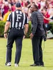 Oct 28, 2017; Vanderbilt Commodores head coach Derek
