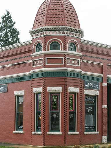 The Polk County Bank, built in 1889, on Tuesday, March