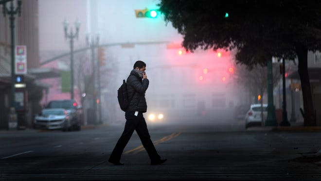 El Pasoans were greeted by a foggy morning Wednesday. Temperatures are expected to hover in the mid 50s; cooler than what the city has experience in the past week.