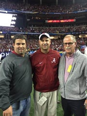 Luke, Jeremy and Dale Pruitt, shown here when Jeremy Pruitt was Alabama's defensive coordinator, are all football coaches. Luke is the head coach at Pisgah (Ala.) High School. Dale is the head coach at Albertville (Ala.) High. And Jeremy is the coach of the Vols.
