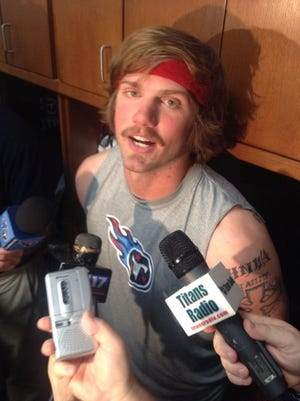 Titans quarterback Zach Mettenberger speaks with reporters after Thursday's practice.
