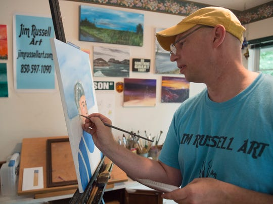 Retired FSUPD deputy chief Jim Russell transitioned from being a police officer to being an artist.