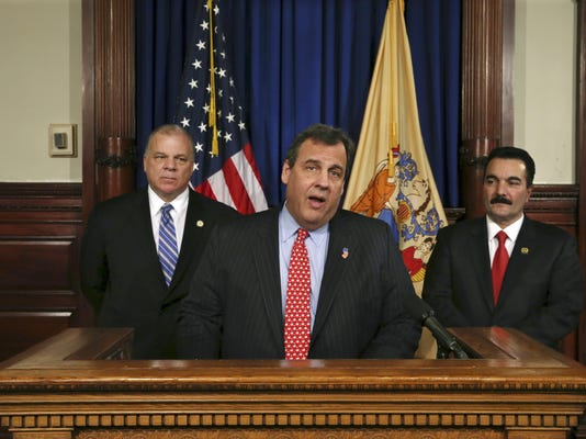 Chris Christie, Steve Sweeney, Vincent Prieto