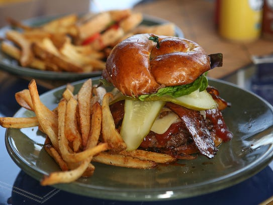 The Draughtsman burger at the Draughtsman restaurant in Palm Springs, one of the eateries participating in 2018 restaurant week.