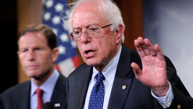 The deal was announced at a news conference by Sen. Bernie Sanders (left), I-Vt., chairman of the Senate Veterans' Affairs Committee and Rep. Jeff Miller, R-Fla., chairman of the House Veterans' Affairs Committee.