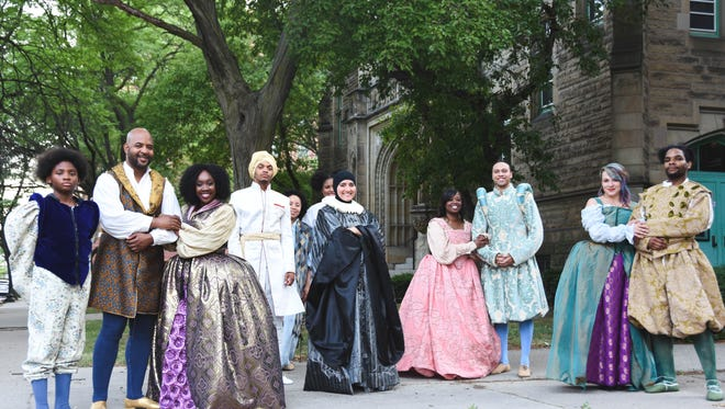 """The cast of """"Shakespeare in Detroit's """"Merchant of Venice."""" Sam White, founding executive director of Shakespeare in Detroit started the theatre company shortly after the city filed for bankruptcy."""