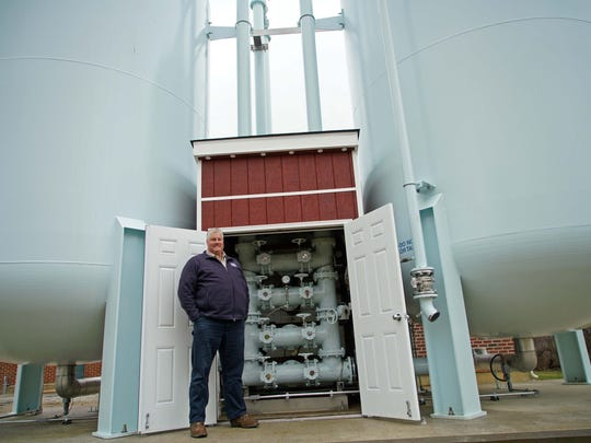 Jay Guyer, water supervisor for Municipal Commission City of New Castle, at the School Lane Water Treatment facility.