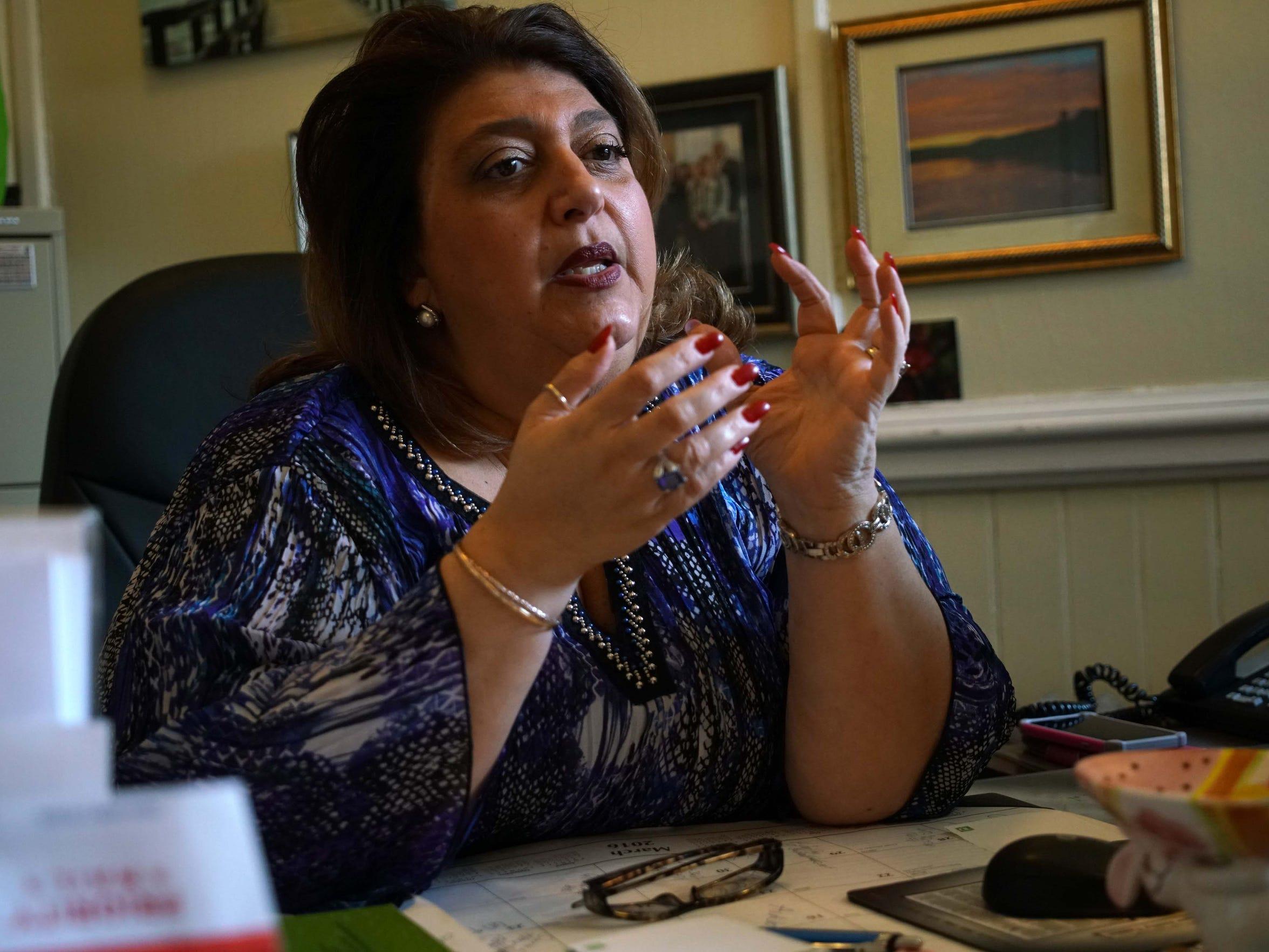 Sefatia Romeo Theken, mayor of Gloucester, Mass., talks