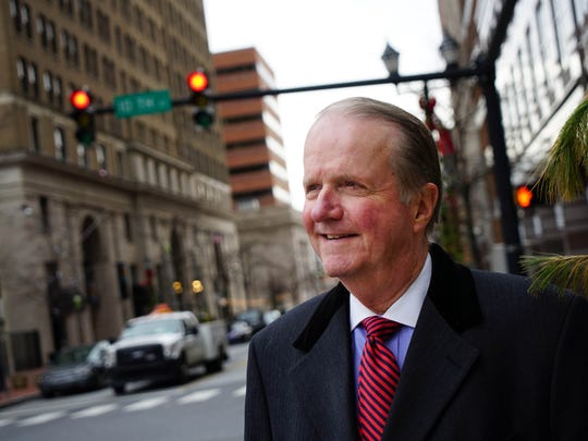 Fred Sears is shown in downtown Wilmington on Dec. 30, when he was president and CEO of the Delaware Community Foundation. Sears said New Castle County executive candidate Matt Meyers suffers from a lack of name-recognition.