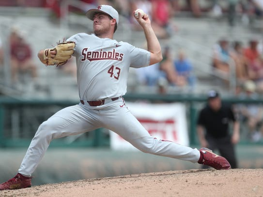 FSU's Drew Parrish pitches against Mississippi State