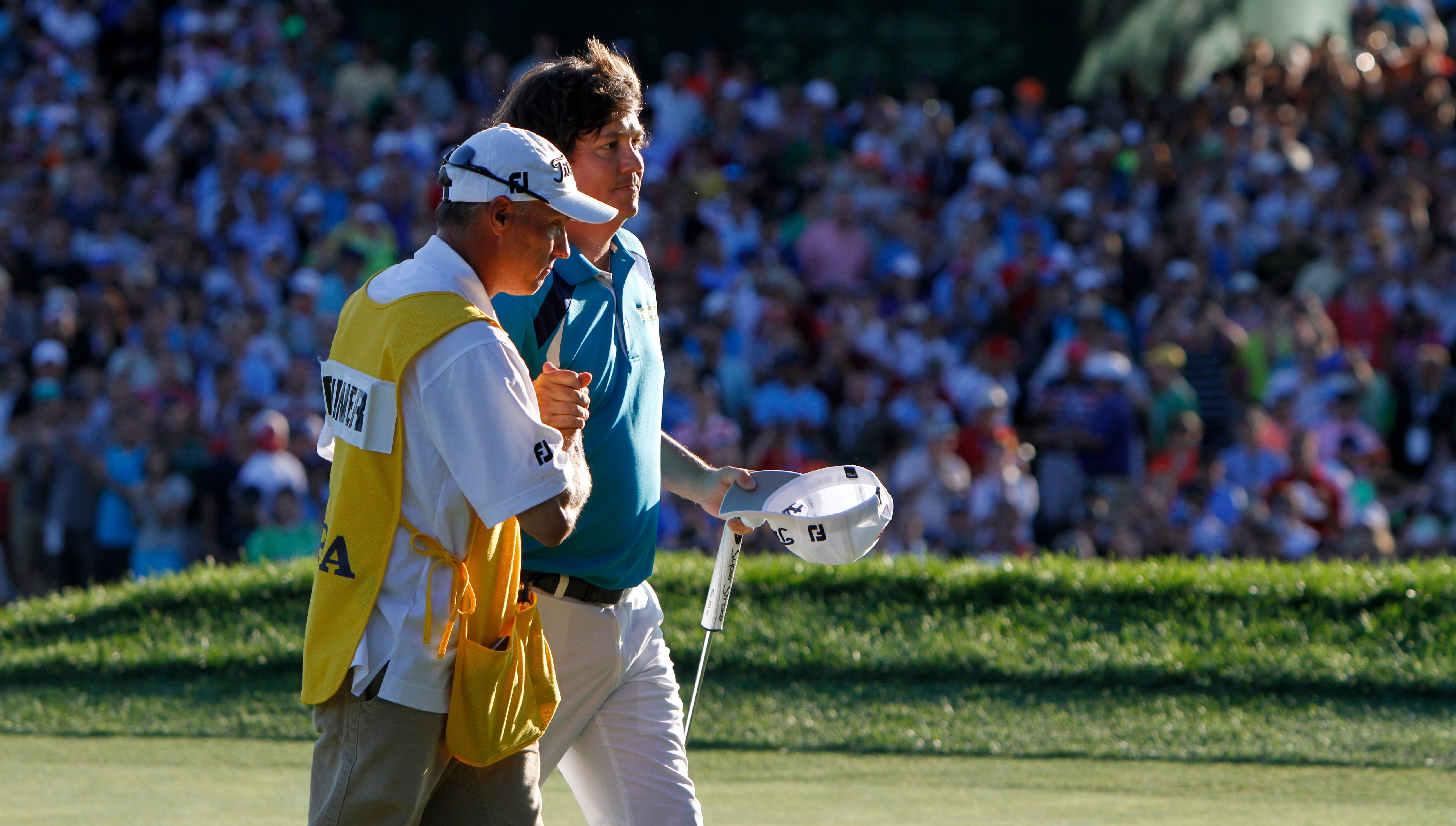 Jason Dufner wins the 95th PGA Championship at Oak Hill in Pittsford, NY August 11, 2013.