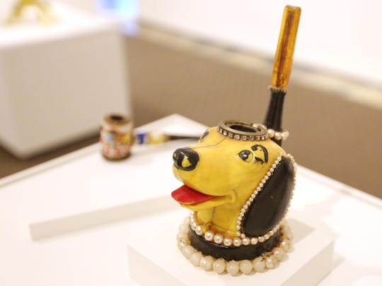 """Smoking pipes by artist Arthur Frenchy are on display at the Hallie Ford Museum of Art's """"Strange and Wonderful"""" exhibit. This week is your last chance to catch the American Folk Art show, which ends Dec. 22."""