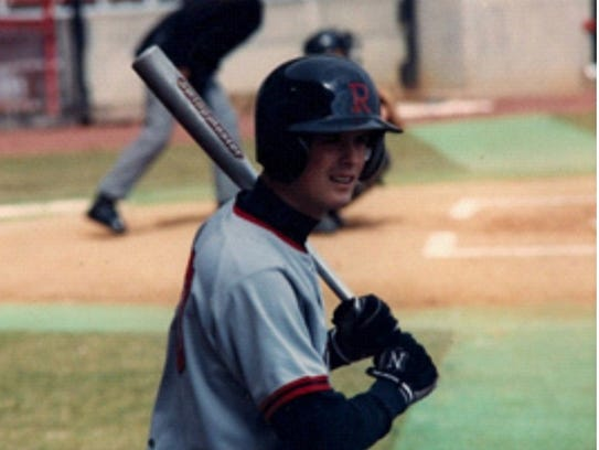 Doug Alongi played baseball at Rutgers University in the early 1990s.