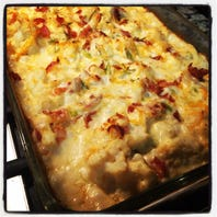 Loaded cauliflower casserole tastes like potatoes