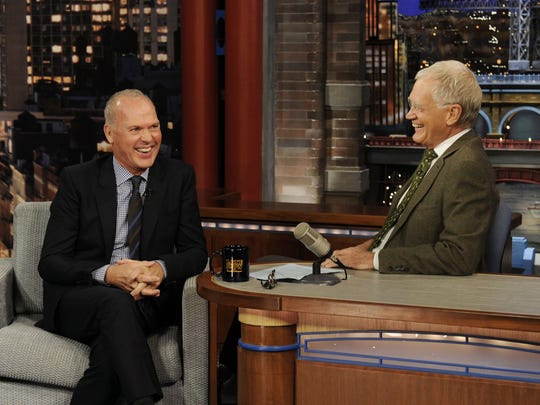 "Actor Michael Keaton, who starred in two ""Batman"" movies, talks about his film ""Birdman"" on the ""Late Show with David Letterman."""