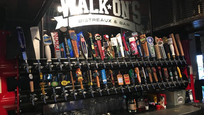 Walk On's Bistreaux and Bar has more than a few choices of beer on tap.