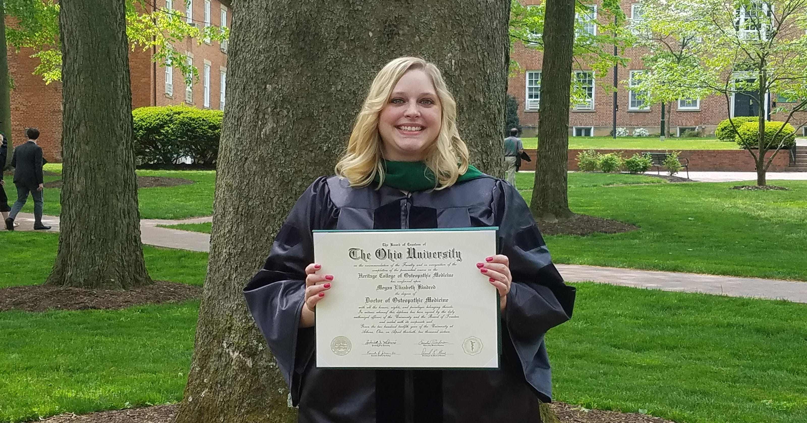 Clyde grad earns doctorate in osteopathics