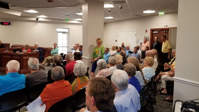 Estero residents filled Wednesday's Design Review Board in opposition of a proposed ER facility by NCH Healthcare System.