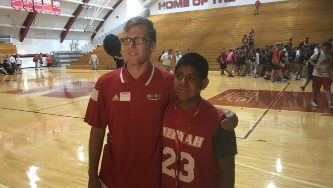 Neenah High School's Corey Ehrgott, left, and Chris Jones, were selected to the 10-member Team Wisconsin that will compete at the Special Olympics USA Games in Seattle in the summer of 2018.