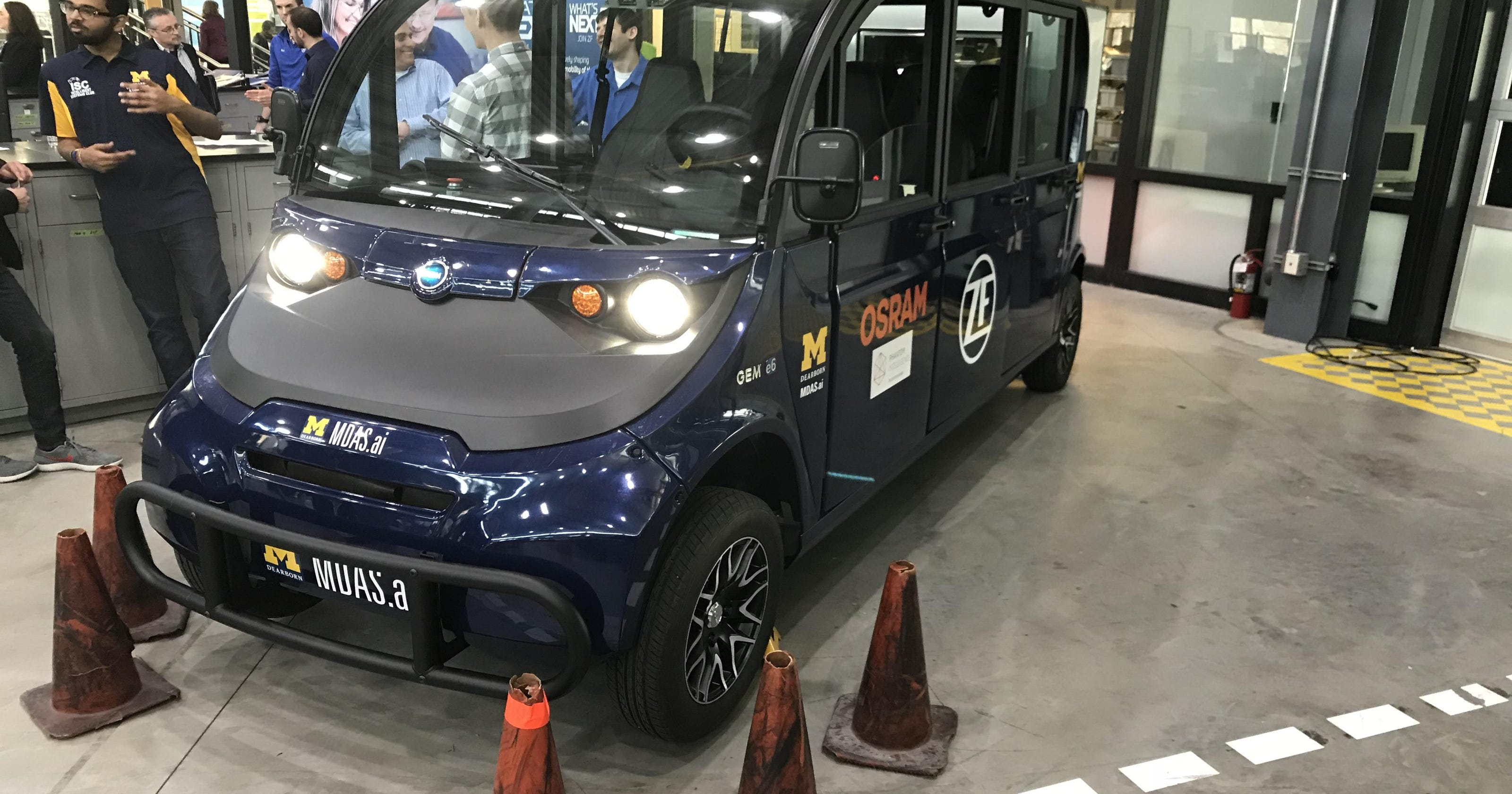 Um Dearborn Students Building Own Self Driving Shuttle
