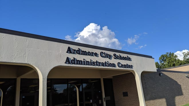 The Ardmore City Schools Administration Center in 2019. A statement from school officials said essential staff will return to work for limited hours next week, but students will not return until at least April 6. Information about meal programs is expected to be released today.